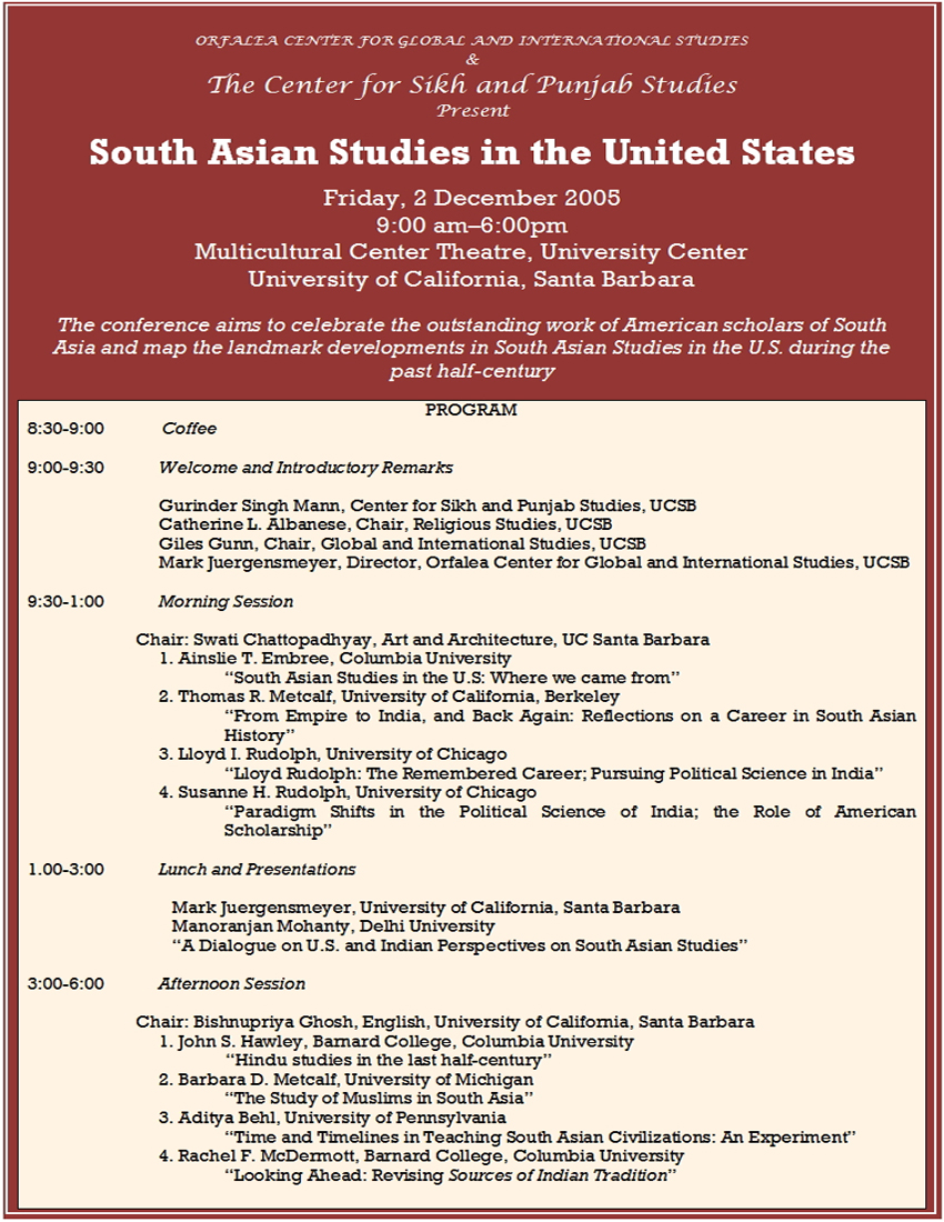 South asian studies conference